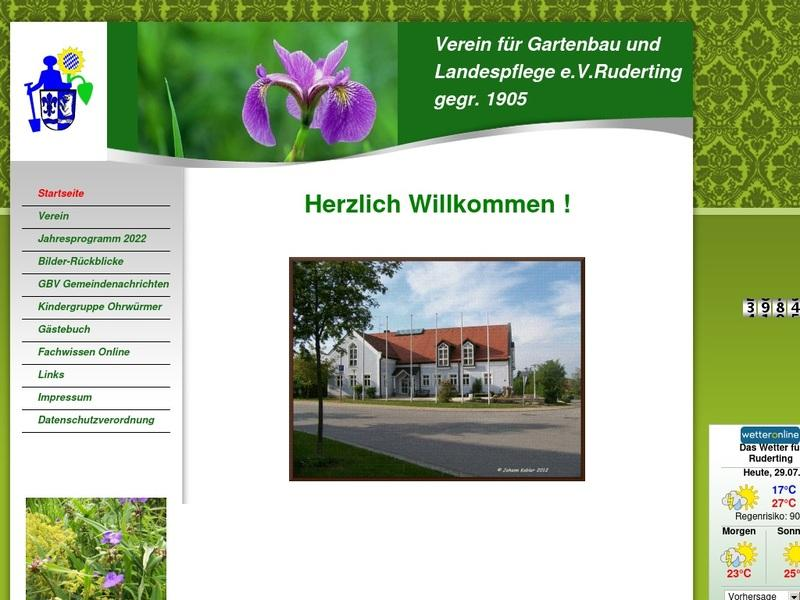 Screenshot von http://www.gartenbauverein-ruderting.de/